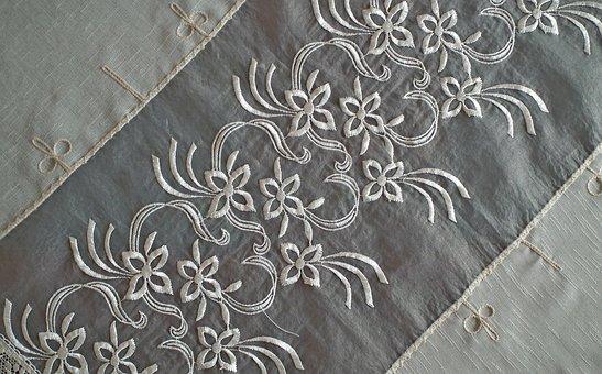 Embroidery, Handicraft, Tablecloth, Hobby, Creativity