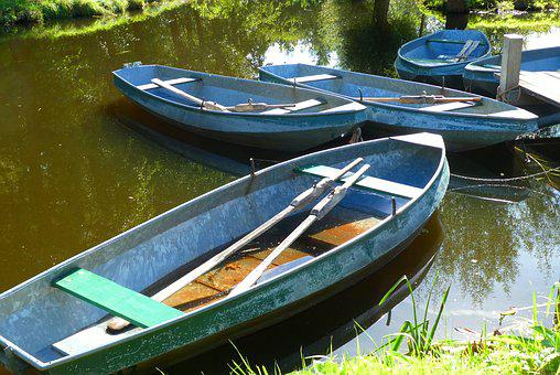 Rowing Boats, Relaxation, Ditch, Were, Rowing Boat