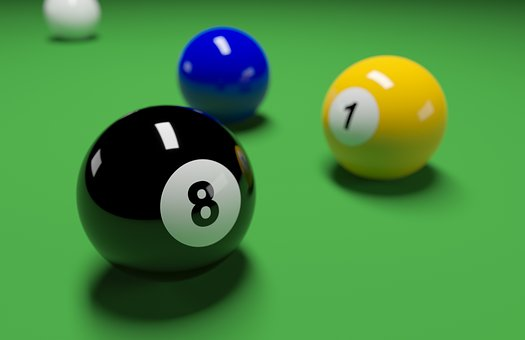 Eight-ball, 8 Ball, 8, Ball, Eight, Pool, Billiard