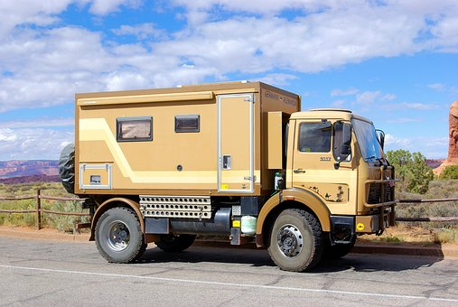 Expedition Vehicle In Arches, Vehicle, Truck