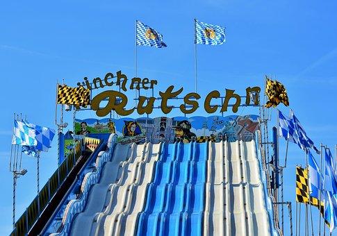 Slide, Giant Slide, Fair, Oktoberfest, Wagon