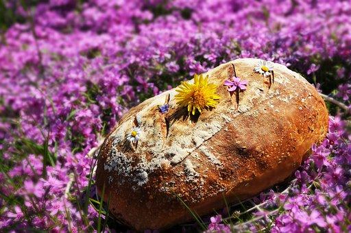 Bread, Home, Sourdough, Baking, Fresh, Food, Flowers