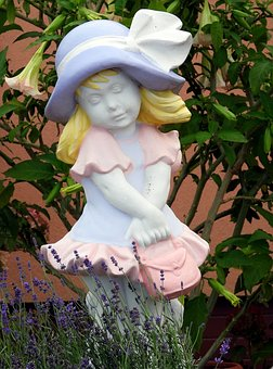 Plaster Figurine, Ornament, Garden, The Figurine, Joy
