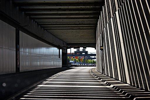 Elbe Tunnel, Hamburg, Tunnel, Traffic, Road, Asphalt