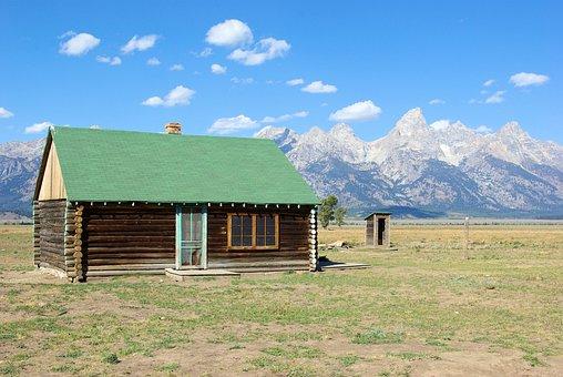 Cabin On Mormon Row, Cabin, House, Grand, Teton