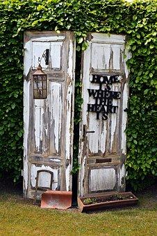 Door, Garden, Architecture, House, Window, Old, Wood