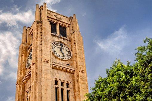 Tower, Clock, Rolex, Tourism, Beirut, Lebanon