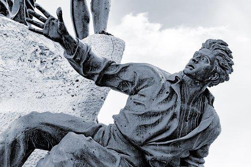 Statue, Bronze, Metal, Sculpture, Martyr, Man