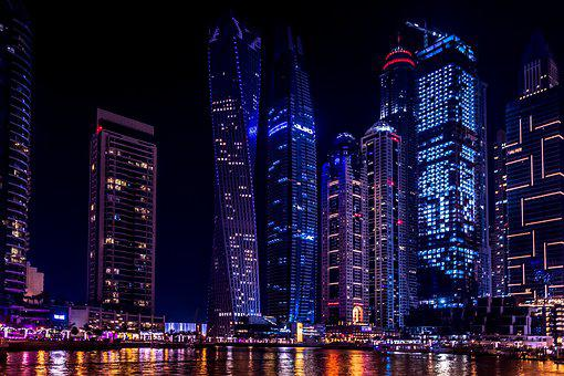 Dubai, Sky, Architecture, City, Building, Modern, Uae