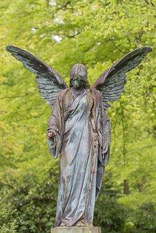 Angel, Stature, Broken, Rusty, Old, Sculpture, Figure