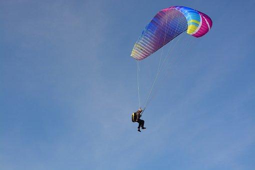 Paragliding-paraglider, Sailing, Wing, Sky, Wind
