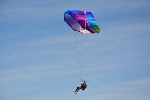 Paragliding-paraglider, Sailing, Wing, Aircraft, Sky