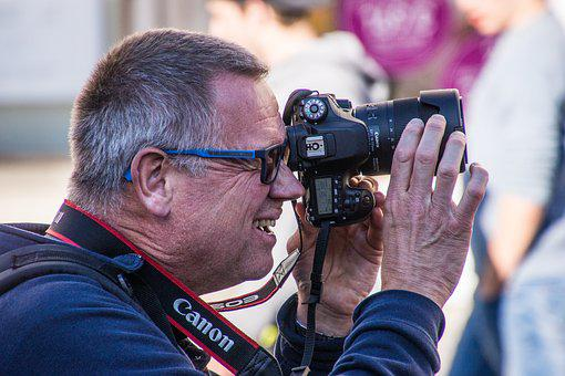 Photographer, Photo, Canon, Reflex Camera, Technology