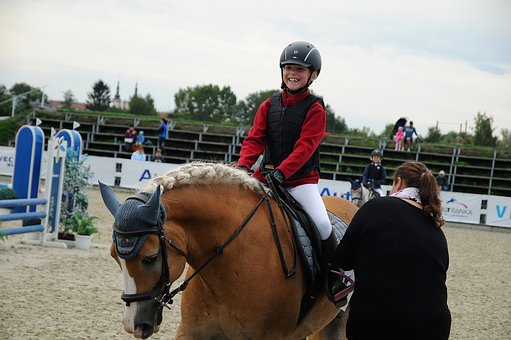 Horse, Pony, Races, Showjumping, Child, Laughter
