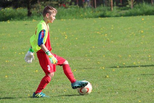 Goalkeeper, Rozohrávka, Prep, Football, Children, Boy
