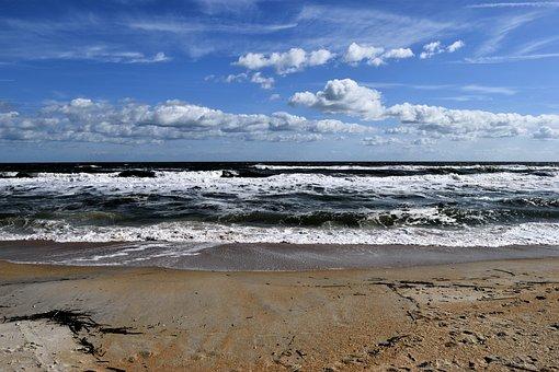 Ocean Waves, Sea, Ocean, Seascape, Landscape, Beach