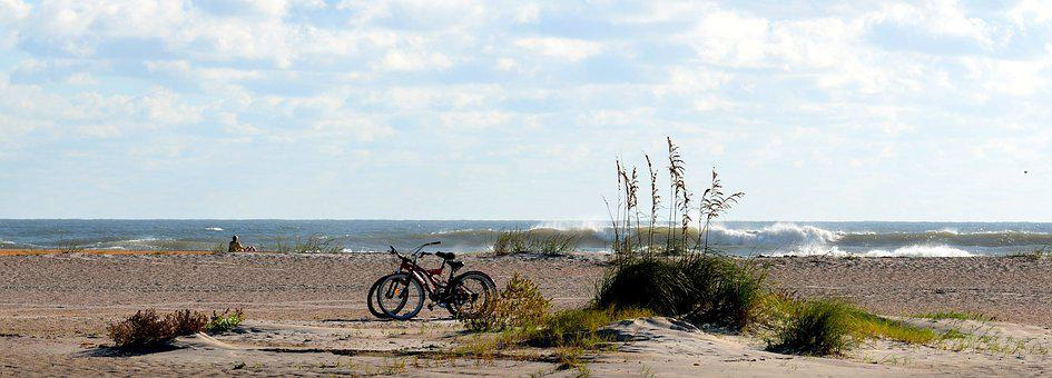 Beach, Ocean, Sand, Panoramic, Landscape, Seascape
