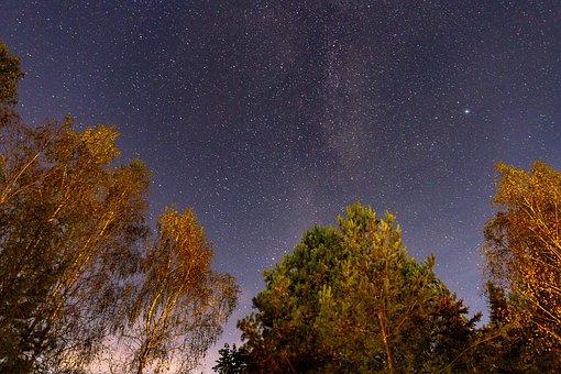 Night, Celebrities, Sky, Autumn, Landscape, Galaxy