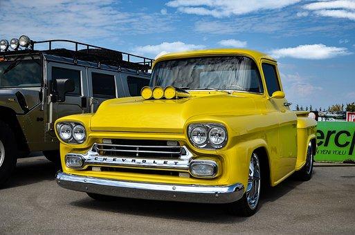 Chevrolet, Truck, Old, Car, Transport, Transportation
