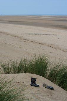 Talacre Beach, Wales, Uk, Wellies