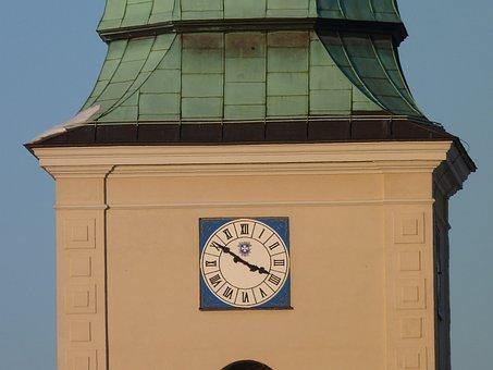 Tower, Clock, Time, Architecture, City, Rzeszów, Poland
