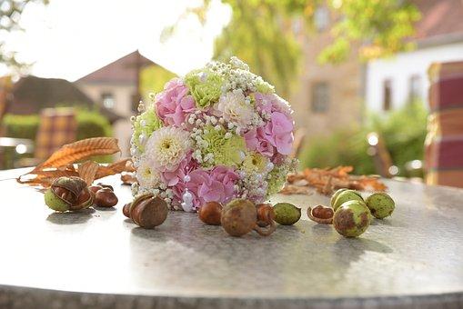 Bouquet, Autumn, Chestnut, Decoration, Autumn Mood