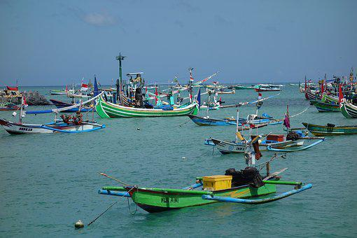 Bali, Boat, Bay, Fishing, Ship, Jimbaran, Asia, Boats