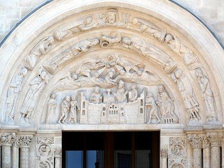St-denis, Basilica, Eardrum, Portal, Sculptures