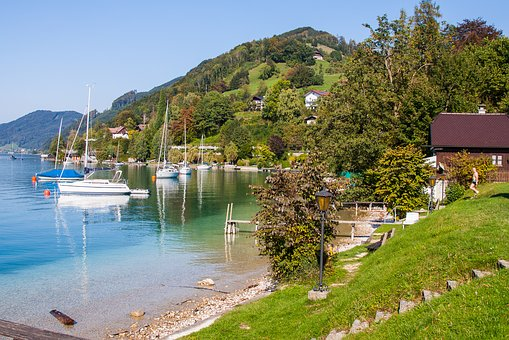 Steinbach, Attersee, Bergsee, Austria, Sailing Boat
