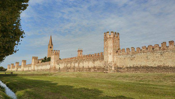 The City Of Montagnana, Castle, Town Of Montagnana