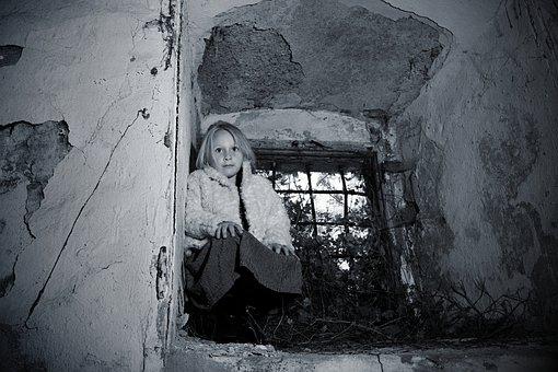 Child, Girl, Window, Expression, Emotion, Portrait