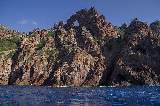 Corsican, Scandola, Cliffs, Maquis, Mediterranean