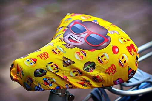 Bicycle Saddle, Seat, Cover, Sunglasses, Emoji