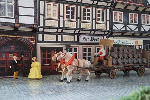 Oktoberfest, Model, Diorama, Brewery, Beer, Wagon