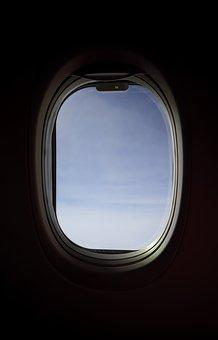Window Shade, Airplane, Window, Travel, Flight, Sky
