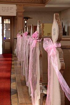 Church, Floral, Pink, Floristry, Wedding