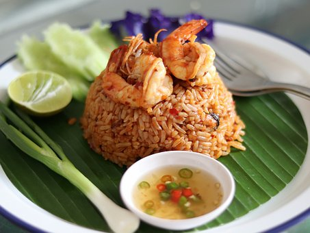 Fried Rice With Shrimp Soup, Thailand Food, Shrimp