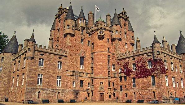 Glamis Castle, Scotland, Imposing, Masonry, Tourism