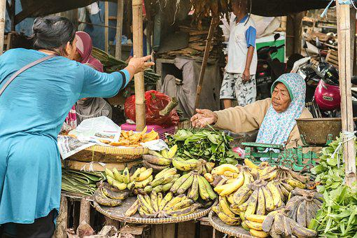 Traditional Market, Street, Market, Sell, People