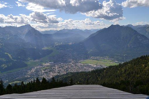 Mountain, Landscape, City, View, Mountains, Nature