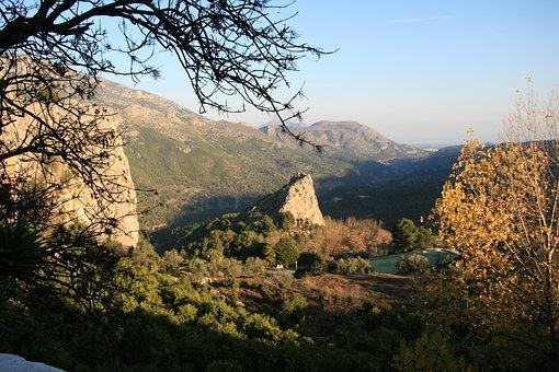 Guardales, Spain, Mountains, Landscape, Rock, View