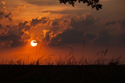 Sunset, Evening, Sky, Dusk, Nature, Landscape, Mood