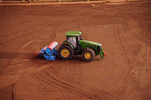 Tractor, Toy, Fun, Village, Child, Play, Nice