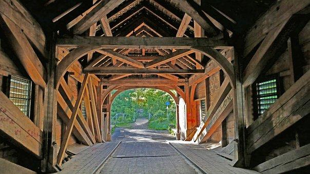 Architecture, Bridge, Wood, Bar, Strive, Old