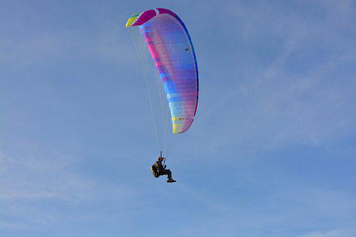 Paragliding, Paraglider, Sailing, Wing, Fly