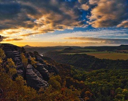 Landscape, Saxon Switzerland, Elbe Sandstone Mountains
