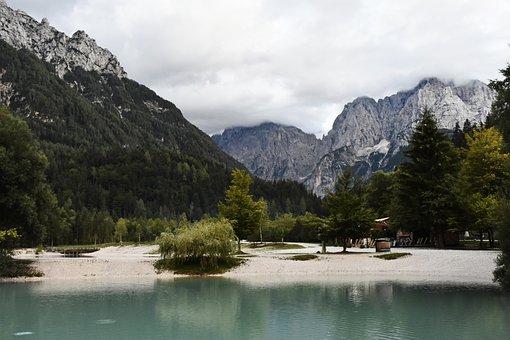 Lake, Mountains, Slovenia, Jasna Lake, Julian Alps