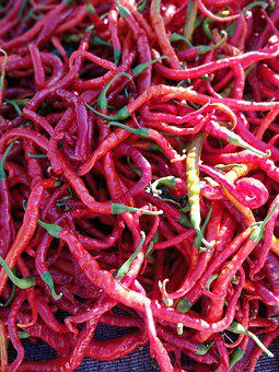 Chili Pepper, Spice, Red, Spicy, Kitchen, Vegetables