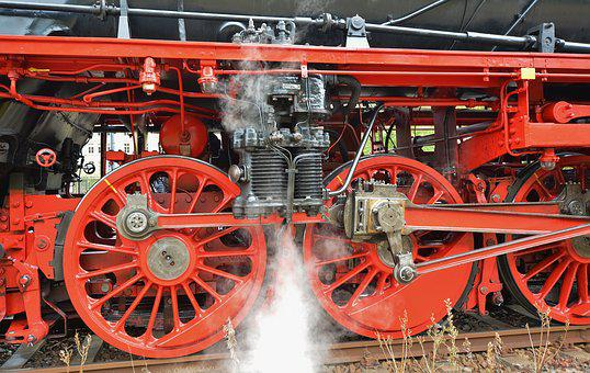 Steam Locomotive, Steam, Operational, Detail