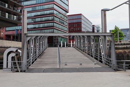 Hamburg, Bridge, Architecture, Building, Steel, City